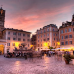 The colourful Trastevere neighbourhood in Rome
