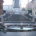Enjoying Piazza di Spagna's view